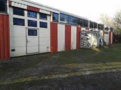 A vendre hangar équipé pour la fabrication de châssis dans la région Charleroi Hainaut
